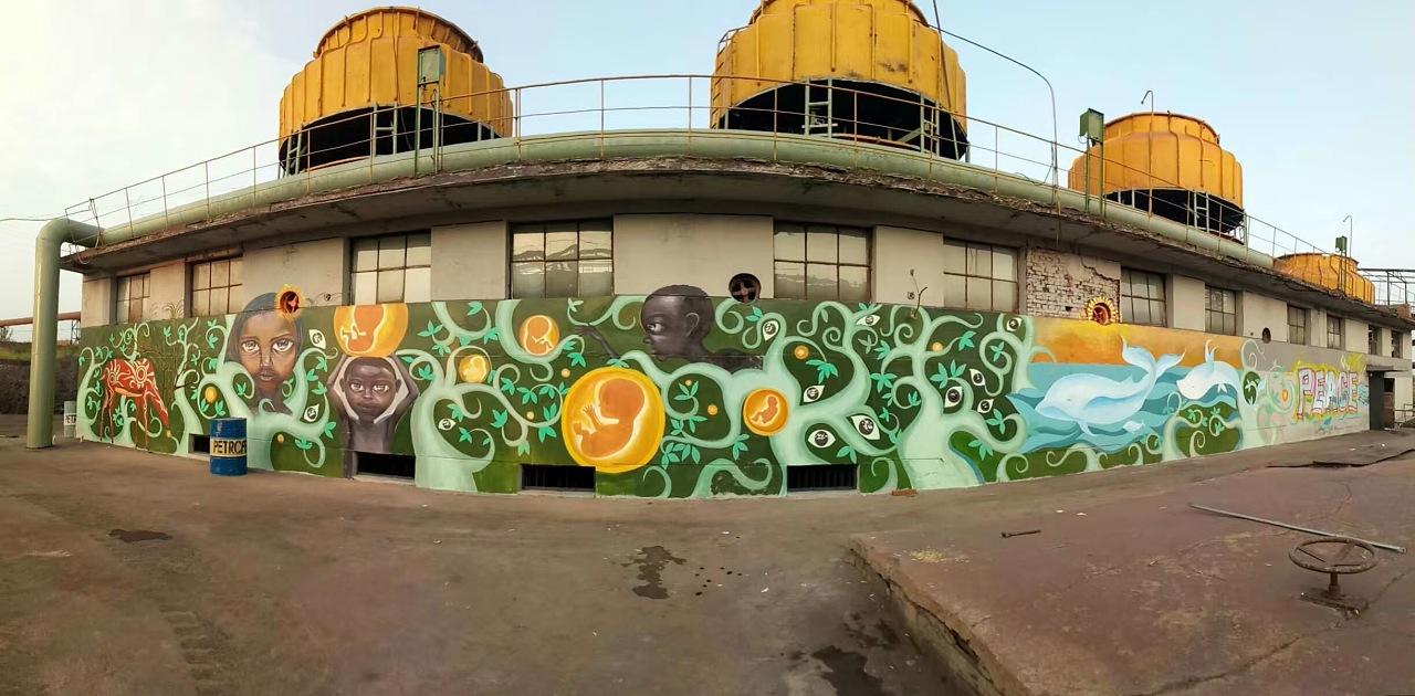 大型墙体喷绘