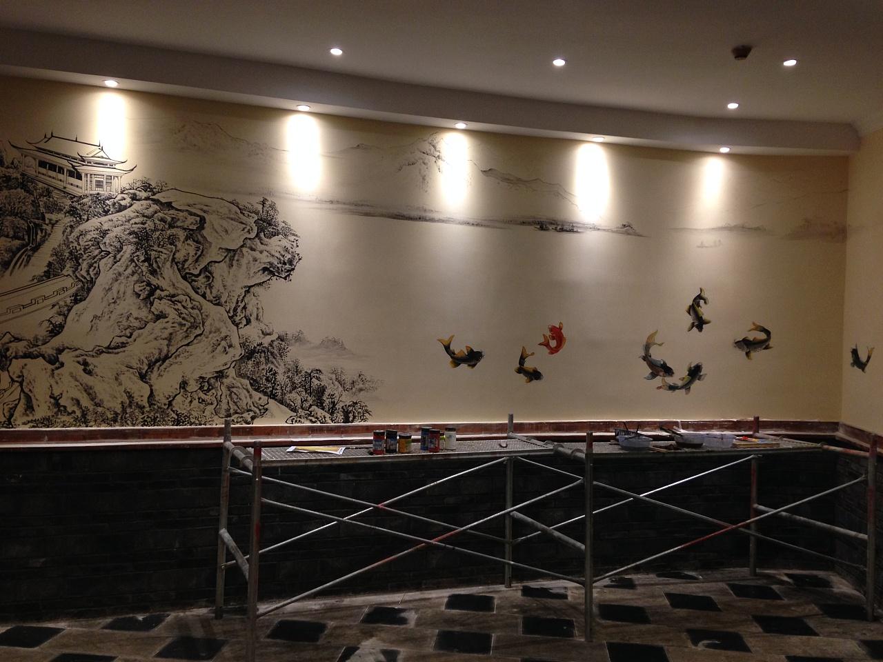 背景墙墙体彩绘