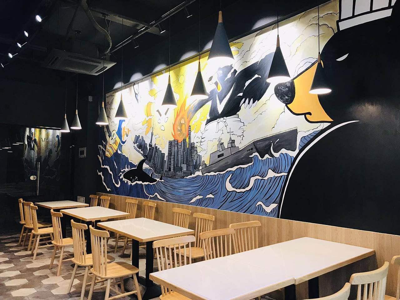 做餐厅手绘墙的注意事项