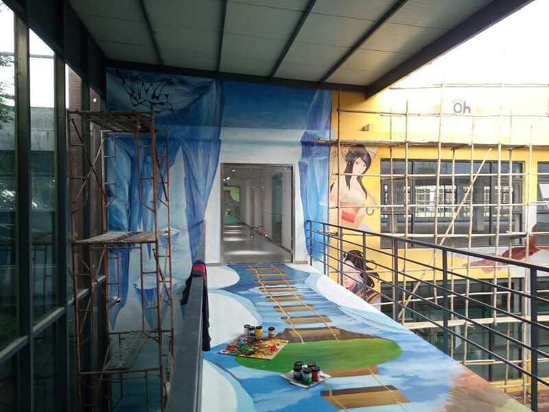 要制作墙体彩绘必须要满足以下的条件