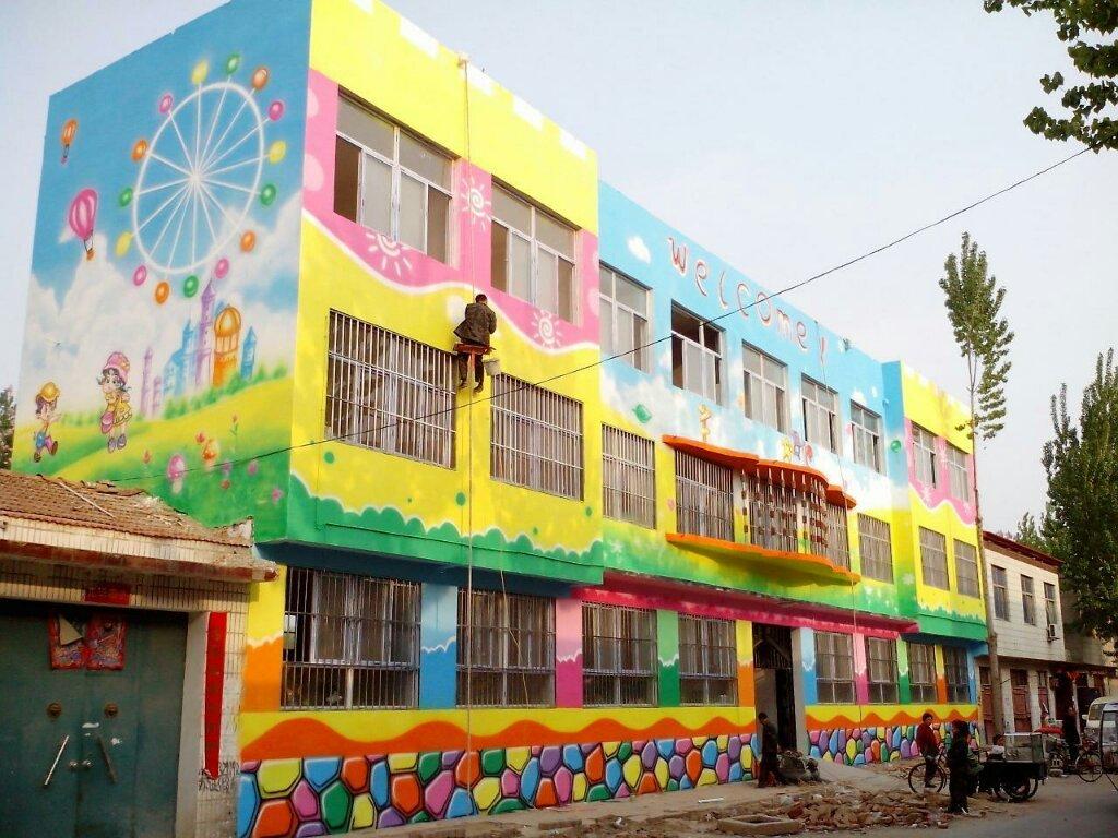 提供幼儿园墙体彩绘工程的布置方法