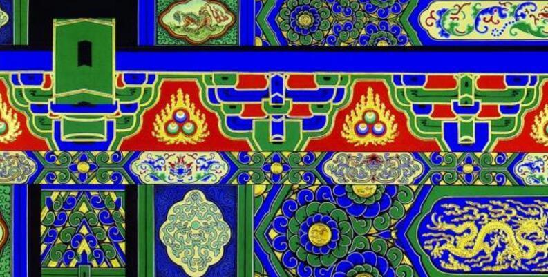 南昌古建筑手绘,南昌手绘古建筑,南昌墙体彩绘