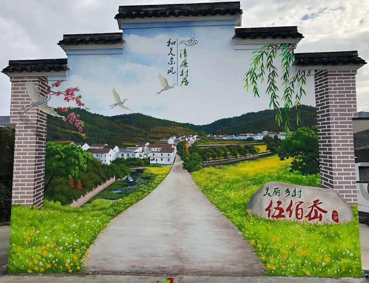 南昌墙体绘画,南昌绘画墙体,南昌古建筑绘画,南昌绘画古建筑