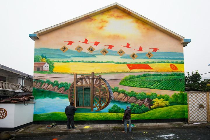 南昌新农村建设墙体彩绘,南昌墙体喷绘广告公司,南昌新农村墙绘