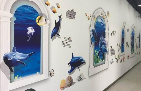 南昌手绘彩绘墙,南昌立体画,南昌手绘墙体,南昌墙绘3d