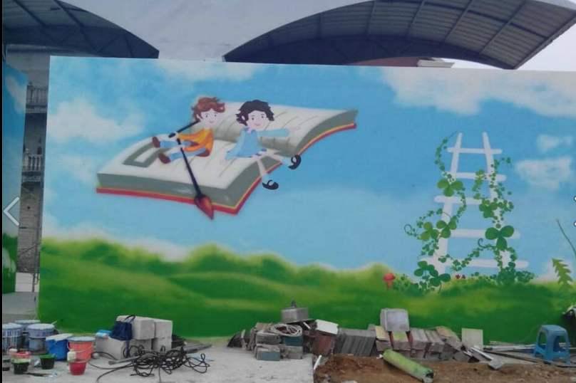 南昌古建手绘,南昌3d立体画手绘,南昌墙画,南昌外墙彩绘