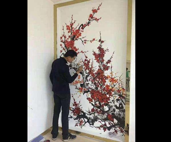 南昌背景墙墙绘,南昌彩绘墙体,南昌墙绘工作室,南昌文化墙彩绘