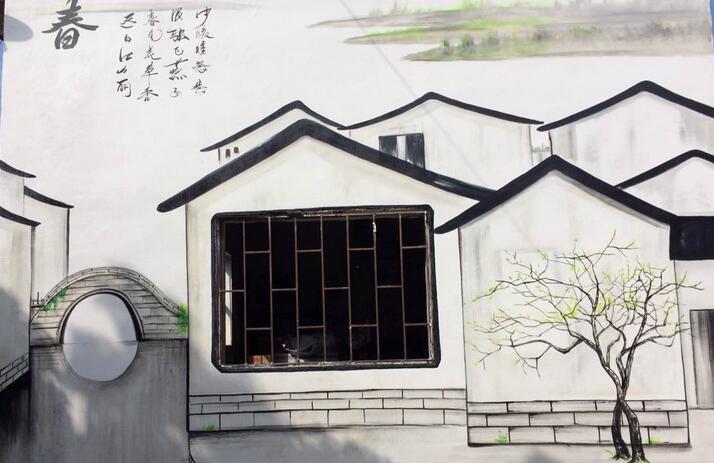 南昌涂鸦墙画,南昌彩绘公司,南昌乡村墙体彩绘,南昌幼儿园手绘壁画